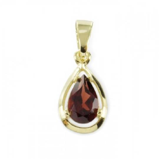 garnet pendant from Etsy shop
