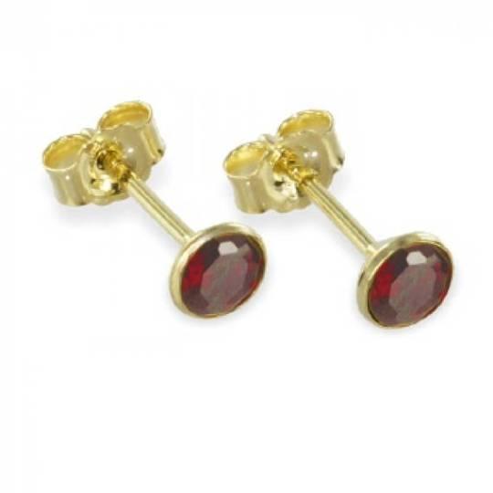 Garnet Earrings from Etsy